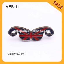MPB11 Forro del bigote forma el hardware negro del metal del níquel para la decoración y el accesorio de la ropa del material del zapato