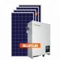 Fase rachada de América 110 / 220V sistema do painel solar de 10000 watts para o uso home 10 quilowatts no sistema solar da grade