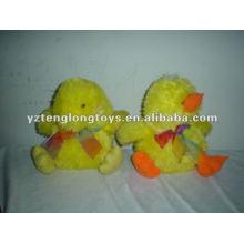 Peluches en peluche Jouets de canard jaune