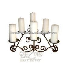 Huaming Atacado Pilar Branco Velas / velas decoradas em cores diferentes / branco pilares igreja velas