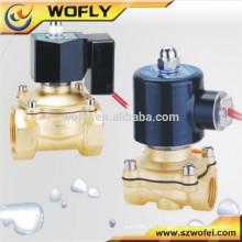 Válvula de solenoide de acero inoxidable de 220 voltios para gas, agua, aceite