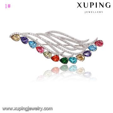 Broche de diamantes de imitación para invitaciones de boda hechas con cristales de Swarovski, broche Element