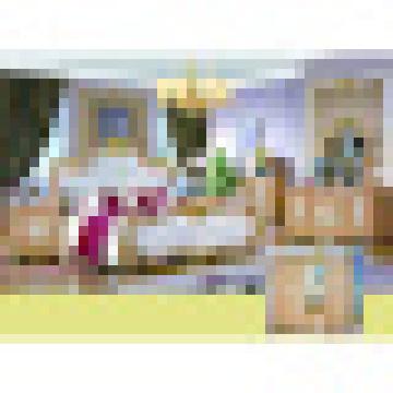 Ensemble de meubles de chambre à coucher avec lit classique et armoire (W813B)