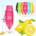 Garrafa bebendo da garrafa da água 22oz H2O da multi cor do limão da fruta nenhum mínimo nenhum mínimo