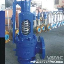 Válvula de seguridad de elevación completa de acero al carbono con resorte