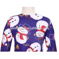 Professional Colorful Printed Christmas Girl Wear Dress Sweet Child Clothing