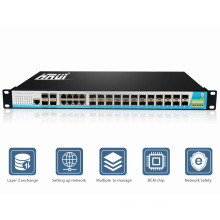 Gigabit ethernet network switch 24 port layer 3 hub price
