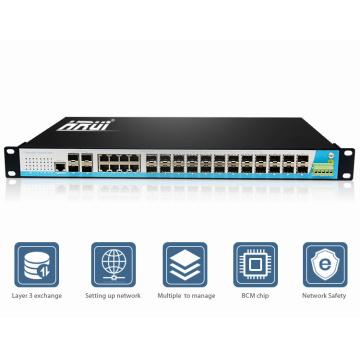 Сетевой гигабитный Ethernet-коммутатор 24 порт слой 3 Цена ступицы
