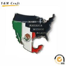 Zinklegierung Typ Karte und Flagge Magnetische Kühlschrank Abdeckungen Ym1068