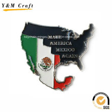 Zinc Alloy Type Map and Flag Magnetic Fridge Covers Ym1068