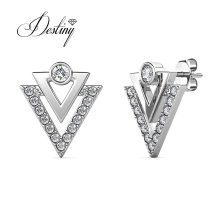 Minimalist Patrizio V Shape Triangle Stud Earrings for Ladies