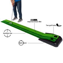 Hochwertige preiswerte Golf-Trainingshilfe-Putting-Matte mit Track