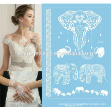 Newest design white lace body temporary tattoo sticker for hands j018