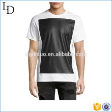 Pullover style à la mode t-shirt à manches courtes logo personnalisé pour hommes