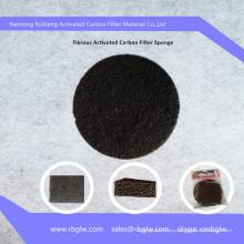uso de cocina filtro de carbón activado fibra de disco de malla