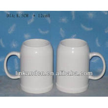 Haonai exported 17oz bulk white ceramic stein beer mug