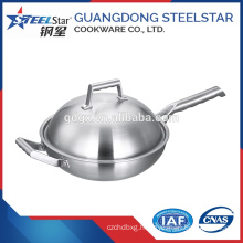 Household cooking cookware stainless steel chinese wok