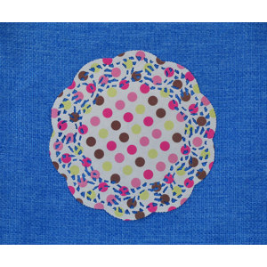 Round Paper Doily with 4 colors Printing