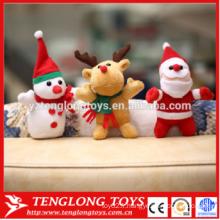 Haute quantité de jouets en peluche mignon père jouets de Noël jouets au père noël poupée aux élans