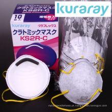 Máscara descartable de carbono ativo de alta qualidade anti PM 2.5 para moldagem. Fabricado por Kuraray. Feito no Japão