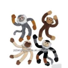 Promotional Decorative Plush Long Leg Monkey Toy Fridge Magnet
