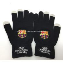 Benutzerdefinierte Futbol Club Barcelona gestrickte Handschuhe