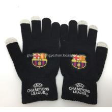 Custom Futbol Club Barcelona Knitted Gloves