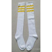2014 Chaussettes de football à compression / Chaussettes à miettes Lycra / Chaussettes de soccer à compression