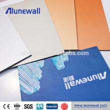 Chine fournisseur aluminium décoratif texture panneaux panneaux alucobond acp prix