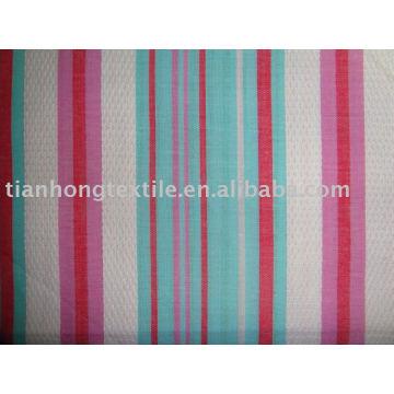 Hilo acabado mercerizado teñido algodón del telar jacquar del paño