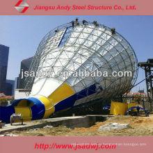 Популярные стальные водные горки Space Frame Water Park Equipments