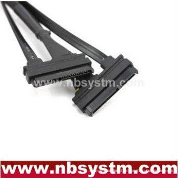Sata power+data combo cable, female to female