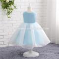 Meninas vestido de baile vestido de festa da menina cor azul personalizar tamanho vestidos da menina de flor