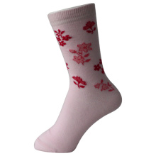 Pink Flower Girl's Socks
