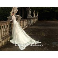 ZM16006 Abnehmbare lange Zug Muslim Brautkleid mit langen Ärmeln Spitze Custom Brautkleider aus China Großhandel Alibaba