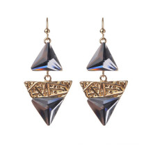 Fashion AAA Zircon Triangle Shape Earring For Lady