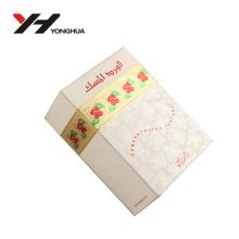 caja de papel de embalaje de perfume de estampado de oro blanco y rojo de flores