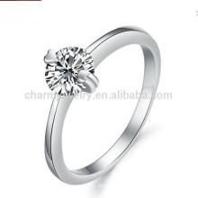 Oro blanco al por mayor 18K plateado en la joyería unisex clásica dj907 de las mujeres de la venda de boda del acero inoxidable