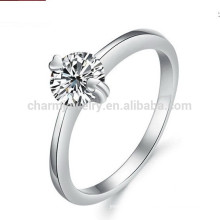 Venda Por Atacado ouro branco 18K banhado em aço inoxidável clássico unisex casamento banda jóias dj907