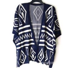 Ladies Aztec Knitted Wrap