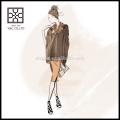 Hot Selling New Fashion Lady Acrylic Plain Color Poncho