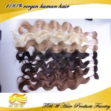 Extensão do cabelo humano da ponta de 100 queratina eu derrubo extensões do cabelo da onda do corpo