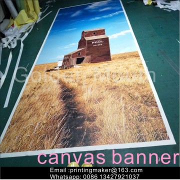 Custom Printed Canvas Banner Printing for Decoration