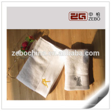 100% Cotton White Custom Logo Available Wholesale Hotel Face Towel