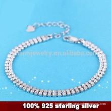 CYL010 prata esterlina 925 Micro Pave pulseira mulheres com CZ, namorada jóias presentes de Natal