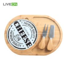 Juego de tablas de queso de bambú