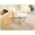 Craft Scented Soy Candle in Personalized Clear Glass Jar
