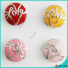 New Arrival 20mm Round Love Snap Jewelry