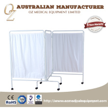 Foldable Hospital Screen Three Folds Medical Screen Examination Screen
