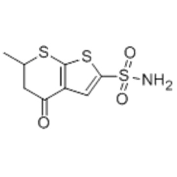 4H-Thieno[2,3-b]thiopyran-2-sulfonamide,5,6-dihydro-6-methyl-4-oxo- CAS 120279-88-1